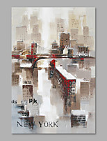 IARTS® Hand Painted Modern Abstract New York City Oil Painting On Canvas with Stretched Frame Wall Art For Home Decoration Ready To Hang
