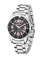 Women's Men's Dress Watch Fashion Watch Quartz Stainless Steel Band Casual Silver