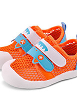Girls' Flats First Walkers Breathable Mesh Tulle Spring Fall Casual Walking First Walkers Magic Tape Low HeelLight Green Light Blue
