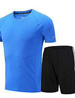 Men's Short Sleeve Running Clothing Suits Fitness, Running & Yoga Sports Wear Running/Jogging Loose