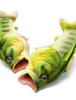 2017 New Arrival Creative Shape Men's Slippers 3D Fish Print Flip-flops Design Personality Handmade Open Toed Beach Slippers