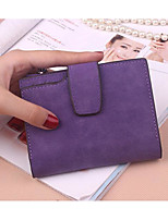 Women Money Clip PU All Seasons Casual Square Zipper Purple Gray Black