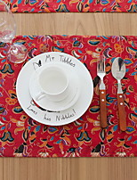 Fashion Creative Red Vine Double Cloth Cotton And Linen Table Placemat 32*45cm