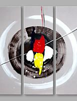 Peint à la main Abstrait Format Vertical,Artistique Trois Panneaux Toile Peinture à l'huile Hang-peint For Décoration d'intérieur