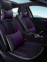 Car Seat Cushion Car Seat Cover Family Car Leather Seat Cover Four General--Black Purple