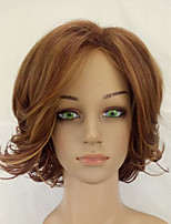 Synthetic Light Brown Shag Curly Wig  Woman Wigs Medium Length High Temperature Fiber Hair