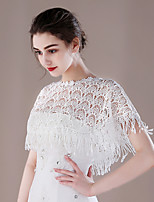 Women's Wrap Capelets Lace Wedding Party/ Evening Tassels