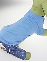 Cachorro Moletom Roupas para Cães Casual Sólido Laranja Vermelho Verde Azul