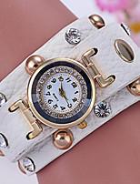 Жен. Часы-браслет Цифровой Металл Группа Черный Белый Красный Зеленый Роуз