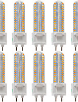8W Luces LED de Doble Pin T 128 SMD 2835 700-800 lm Blanco Cálido Blanco Fresco Blanco Natural Decorativa AC 100-240 V 10 piezas