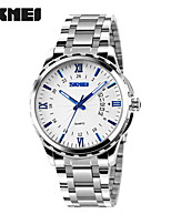 Women's Men's  SKMEI Luxury Brand Full Stainless Steel Analog Display Date Men's Quartz Watch Casual Business Watches Men Wristwatches