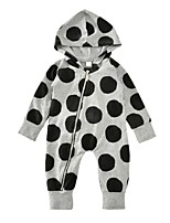 Baby Polka Dots One-Pieces Cotton Spring/Fall Winter Long Sleeve Hooded Romper Baby Boys Newborn Bodysuits Jumpsuit