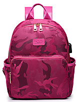 Women Bags All Seasons Nylon Backpack with for Casual Sports Outdoor Office & Career Black Amethyst Fuchsia