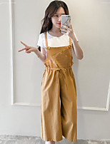 Women's Other Casual Other Casual Summer T-shirt Pant Suits,Solid Round Neck Short Sleeve