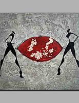 Ручная роспись Люди Горизонтальная,Modern 1 панель Холст Hang-роспись маслом For Украшение дома