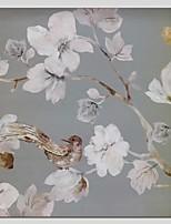 Ручная роспись Цветочные мотивы/ботанический Абстракция 1 панель Холст Hang-роспись маслом For Украшение дома