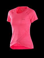 Жен. Футболка для бега Фитнес, бег и йога Толстовка Верхняя часть для Йога Бег Аэробика и фитнес Свободный силуэт Бледно-розовый цвет
