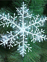 30 Piece/Set  Xmas Classic Charming White Snowflake Party Holiday Christmas Ornaments Home Decor