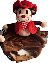 Собака Костюмы Одежда для собак Косплей Джинсы Красный Розовый Светло-синий