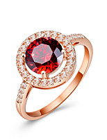 Women's Ring  Classic Elegant Ruby Cubic Zirconia Ring Jewelry For Wedding Anniversary Party/Evening Engagement Daily Ceremony