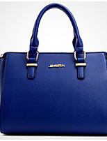 Women Shoulder Bag PU All Seasons Casual Outdoor Square Zipper Gray Black Blue