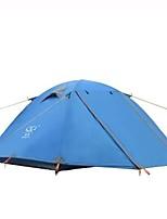 2 personnes Tente Double Tente pliable Une pièce Tente de camping 2000-3000 mm Aluminium TérylèneEtanche Séchage rapide Résistant à la
