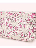 Women Cosmetic Bag Cotton All Seasons Casual Outdoor Rectangle Zipper Blushing Pink Yellow Blue