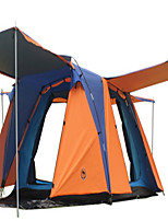 3-4 persons Tent Double Automatic Tent One Room Camping Tent Terylene Fiberglass Well-ventilated Waterproof Dust Proof Foldable-Camping /