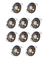 10pcs  Dimmable  LED Recessed Lights 3w Cool White 220V