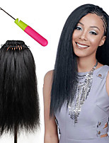 18inch Pre Looped yaki straight hair 22strands/pack black purple grey burgundy brown crochet braiding hair piece synthetic hairstyle braiding perruque
