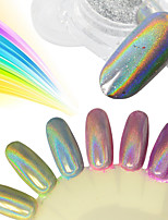 0.2g/Bottle Nail Glitter Powder Rainbow Chrome Holographic Pigment Colorful Powder Nail Art Galaxy Effect DIY Beauty Decorations SL0602-X02