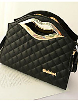 Women Shoulder Bag PU All Seasons Casual Outdoor Square Without Zipper Black White