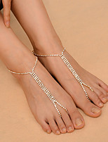 Women's Anklet/Bracelet Copper Rhinestone Fashion Alphabet Shape Jewelry 147 Daily Casual Outdoor clothing Club 1 pcs