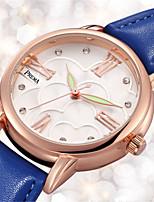 Mulheres Relógio de Moda Único Criativo relógio Quartzo Impermeável Couro Banda Preta Branco Azul Vermelho Laranja