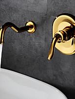 Antique Classique Montage mural Soupape céramique Mitigeur deux trous for  Ti-PVD , Robinet lavabo