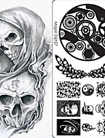 1Pcs Hip-Hop Punk Series Nail Stamping Polish Printing High Quality Nail Art Template Lace Major Digit Stamp Stamping Image Plate With 10 Designs