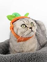 Gato Perro Bandanas y Sombreros Ropa para Perro Cosplay Halloween Sólido Naranja