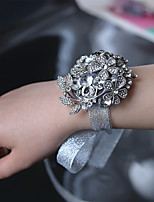 Luxury Diamond High-Grade Grey Bride Wrist Corsages