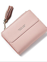 Women Coin Purse Polyester All Seasons Casual Outdoor Square Button Blushing Pink Black Blue