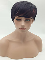 Fashion Straight Brown To Black Color Synthetic Wigs Cosplay Wigs