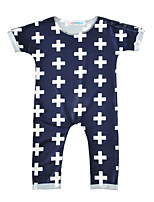 Baby Print One-PiecesCotton Blends Spring/Fall Summer Short Sleeve Cross Prints Baby Boys Girls Romper Bodysuits