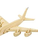 Jigsaw Puzzles DIY KIT 3D Puzzles Metal Puzzles Building Blocks DIY Toys Aircraft Natural Wood