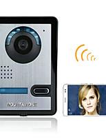 720p sans fil wifi vidéo porte téléphone porte interphone système vision nocturne caméra étanche avec couvercle de pluie