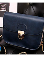 Women Shoulder Bag PU Polyester All Seasons Casual Outdoor Square Clasp Lock Brown Black Blue