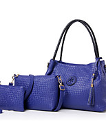 Women Bags All Seasons PU Tote with for Casual Formal Office & Career Blue Gold Black Beige