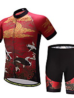 CYCEARTH Cycling Jersey Shorts Pants Short Sleeve Set Men's Bike Clothing Suits Clothes Summer Breathable Quick Dry CES1013