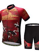 Maillot de Ciclismo con Shorts Hombre Manga Corta Bicicleta Sets de Prendas Correa anti deslizante Bien Ventilado Capilaridad Suavidad