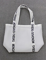 Women Shoulder Bag Polyester All Seasons Casual Shopper Without Zipper Black White