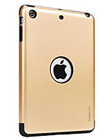 For Apple iPad Mini 3/2/1 Case Cover with Stand Back Cover Case Solid Color Hard PC