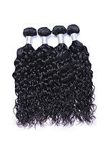 Short Size 4 Bundles/Lot 400g Brazilian Virgin Remy Human Hair Wefts 100% Unprocessed Natural Black Natural Wave Human Hair Weaves/Extensions
